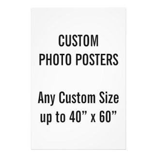 "Custom 24"" x 36"" Photo Poster, up to 40"" x 60"""