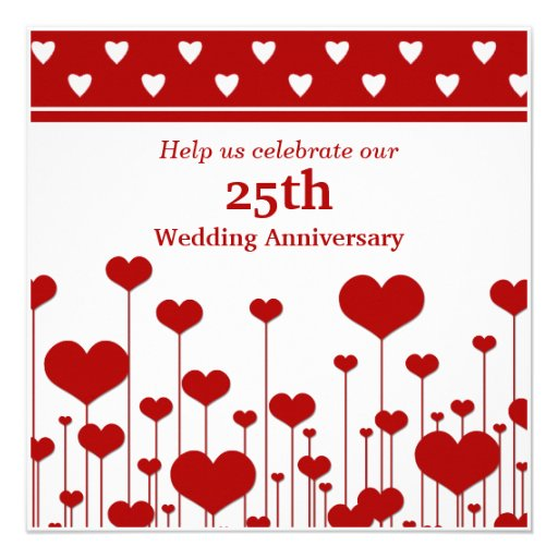 Custom 25th Wedding Anniversary Invitations