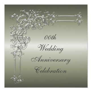 Custom 25th Wedding Anniversary Party Invitation