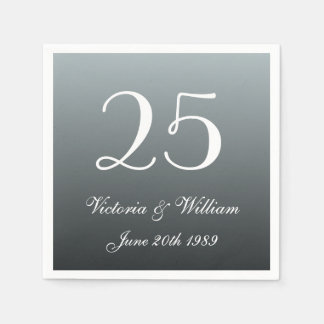 Custom 25th Wedding Anniversary Party Napkins Disposable Serviette