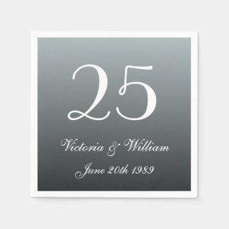Custom 25th Wedding Anniversary Party Napkins Disposable Serviette