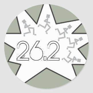 Custom 26.2 Marathon Runners Round Sticker