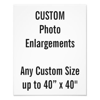 "Custom 280x350mm Photo Enlargement up to 40""x40"""