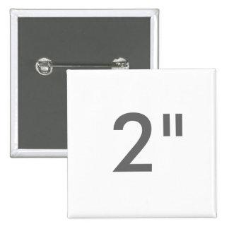 "Custom 2"" Inch Square Badge Blank Template"