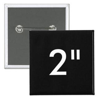 "Custom 2"" Inch Square Badge Blank Template BLACK"