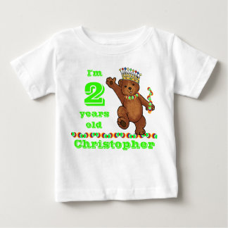 Custom 2nd Birthday Party Royal Bear Baby T-Shirt