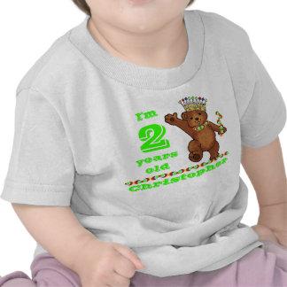 Custom 2nd Birthday Party Royal Bear Tshirts