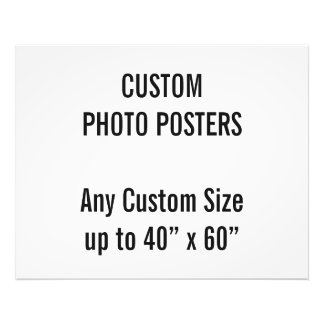 "Custom 30"" x 24"" Photo Poster, up to 40"" x 60"""