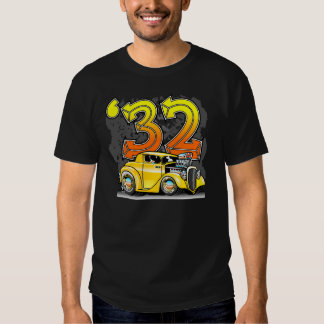 Custom '32 Hot Rod Car Cartoon Tshirt