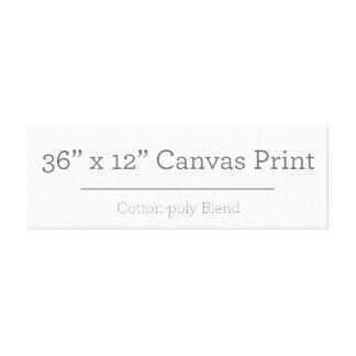 Custom 36 X 12 Canvas Gallery Wrap Canvas