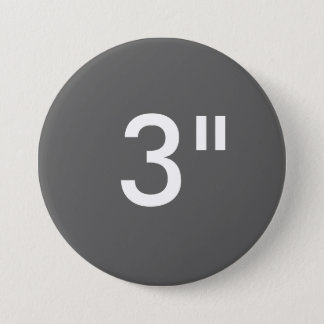 "Custom 3"" Inch Large Round Badge Blank Template"