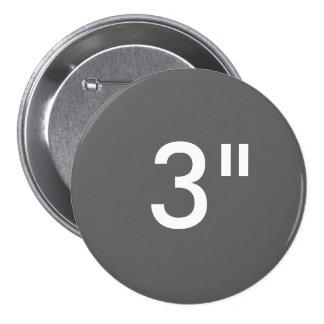 "Custom 3"" Inch Large Round Badge Blank Template"