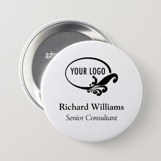 "Custom 3"" Large Name Button Pin Company Conference"