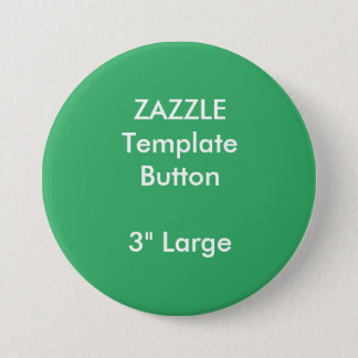 """Custom 3"""" Large Round Button Blank Template"""
