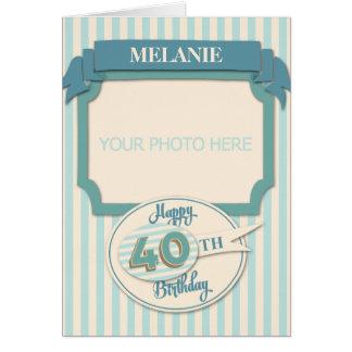 Custom 40th Birthday Card - Add Name and Photo