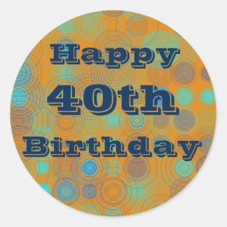 Custom 40th Birthday Stickers