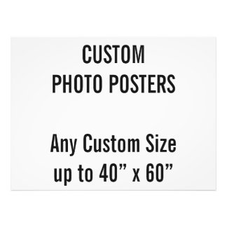 "Custom 48"" x 36"" Photo Poster, up to 40"" x 60"""