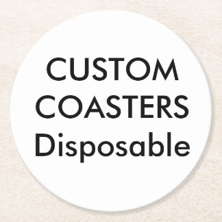 """Custom 4"""" Round Disposable Party Coasters"""