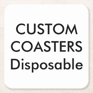 """Custom 4"""" Square Disposable Party Coasters"""