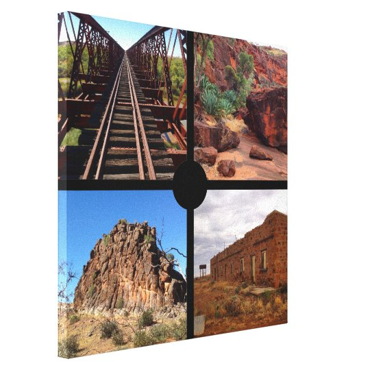 Custom 4 square photo collage canvas print