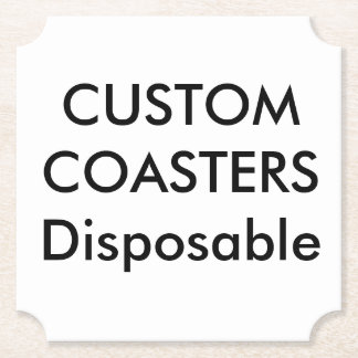 """Custom 4"""" Ticket Disposable Party Coasters"""