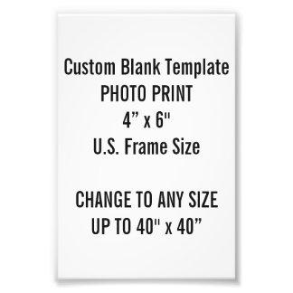 "Custom 4"" x 6"" Photo Print (US Frame Size)"