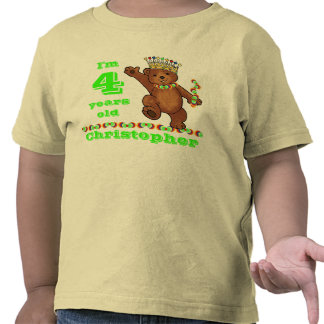 Custom 4th Birthday Party Royal Bear T-shirt