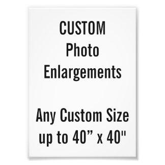 "Custom 5""x7"" Photo Enlargement up to 40""x40"""