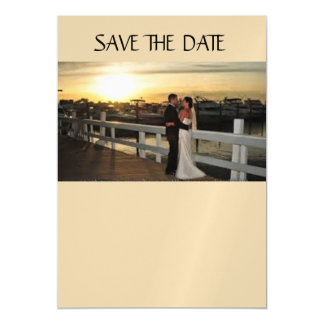 "Custom 5""x7"" Thin Magnetic Card SAVE THE DATE"