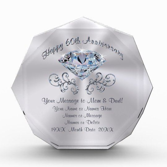 Custom 60th Anniversary Gift Ideas for Parents
