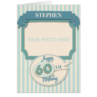 Custom 60th Birthday Card - Add Name and Photo