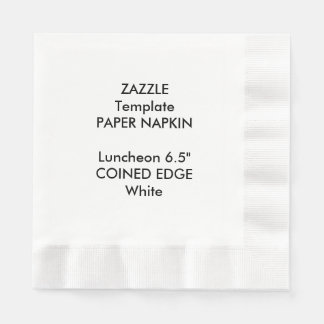 "Custom 6.5"" Coined Edge Luncheon Napkin Template Disposable Napkin"