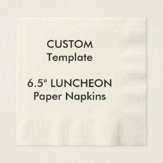 """Custom 6.5"""" LUNCHEON Disposable Paper Napkins"""