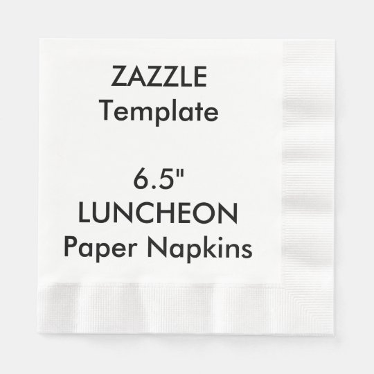"Custom 6.5"" LUNCHEON Disposable Paper Napkins"