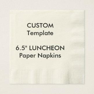 """Custom 6.5"""" LUNCHEON Disposable Paper Napkins Disposable Serviette"""