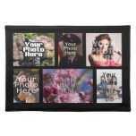 Custom 6 Photo Collage Fabric Placemat