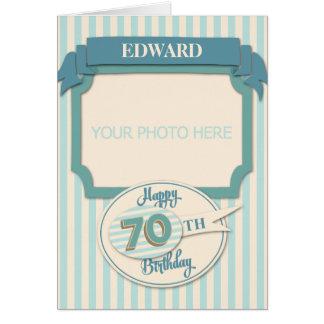 Custom 70th Birthday Card - Add Name and Photo