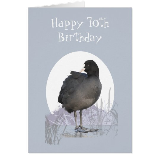 "Custom 70th Birthday ""Old Coot"" Funny Bird Humour"