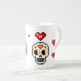 Custom 8-Bit Day of the Dead Lovers Mug