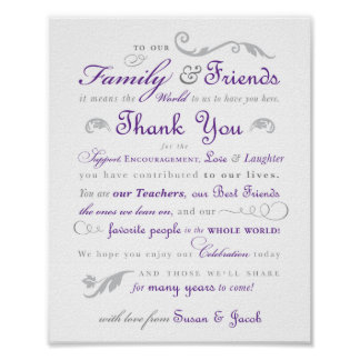 """Custom 8""""x10"""" Thank You Sign Poster"""