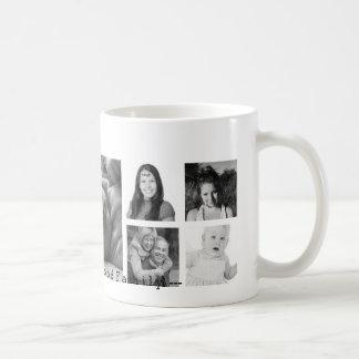 Custom 9 Instagram Photo Collage Basic White Mug