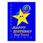 Custom 9th Birthday Stars for Girls Cards