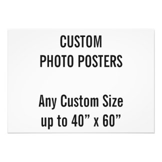 """Custom A2 Photo Poster, up to 40"""" x 60"""""""
