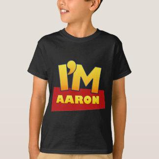custom AARON comic logo shirt