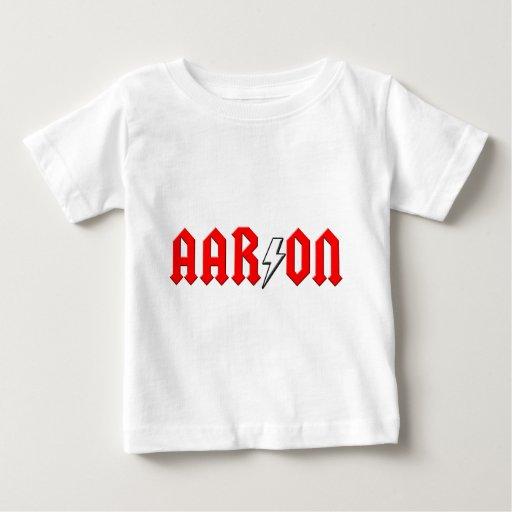 custom AARON rock and roll shirt