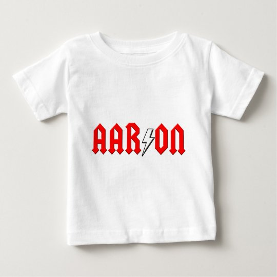 custom AARON rock and roll shirt