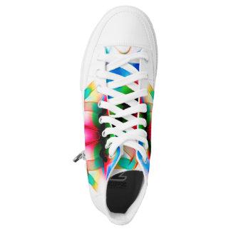 Custom Abstact Zipz High Top, Gay Pride Walker Printed Shoes
