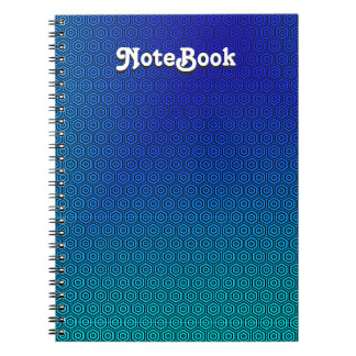 Custom Abstract Blue to Turquoise NoteBook