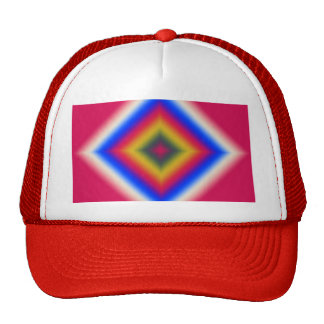 Custom Abstract Design on Red Cap