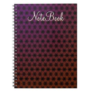 Custom Abstract Purple to Orange NoteBook